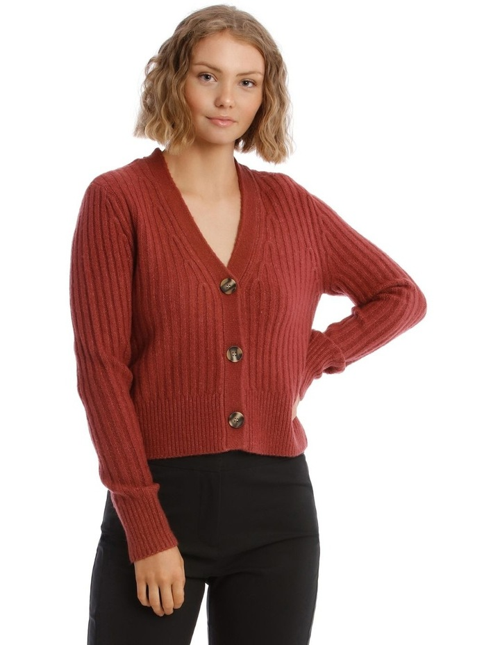 Long Sleeve 3-Button Cardigan image 1