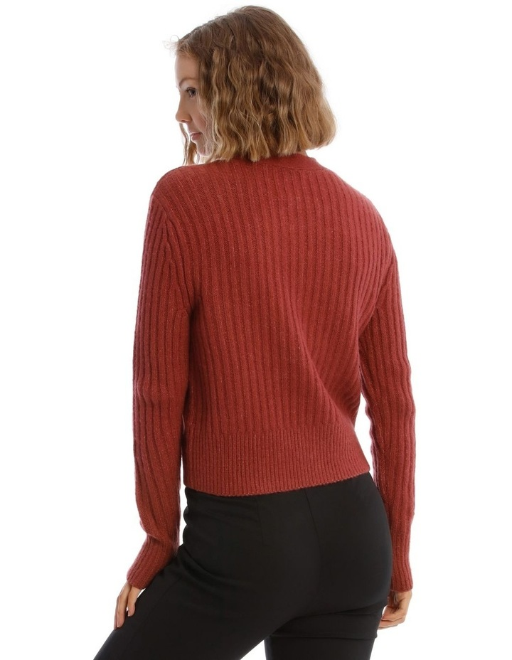 Long Sleeve 3-Button Cardigan image 3