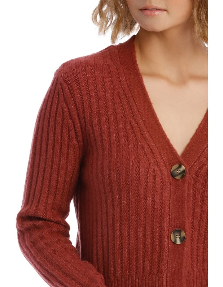 Long Sleeve 3-Button Cardigan image 4