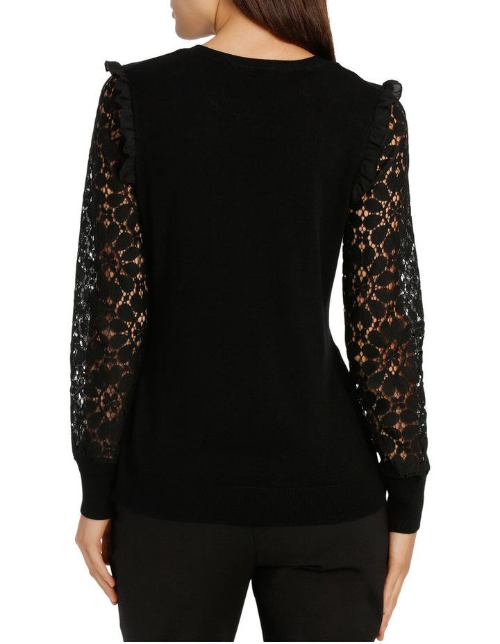 Lace Sleeve Knit - Black image 3