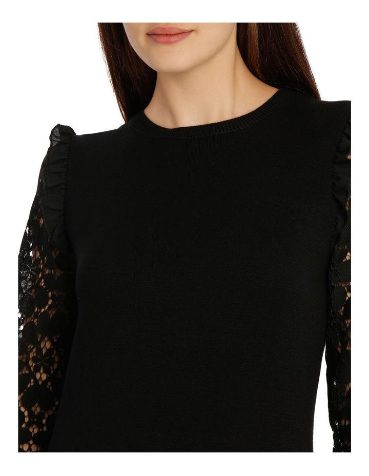 Lace Sleeve Knit - Black image 4