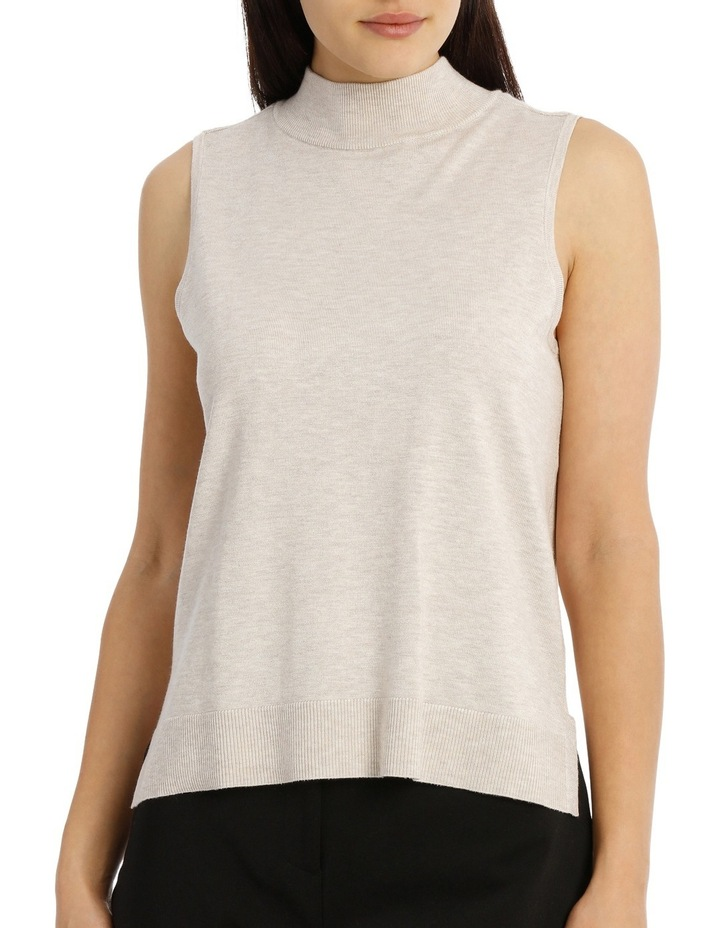 Sleeveless High Neck 2-For Knit - Oatmeal image 1