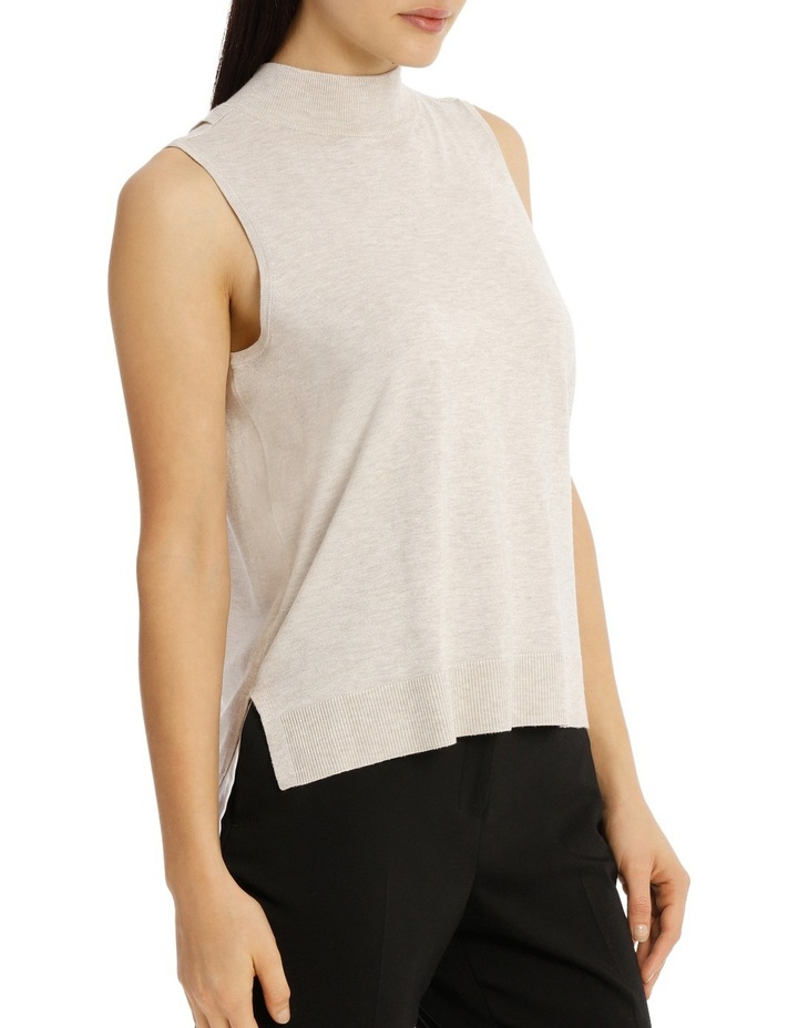 Sleeveless High Neck 2-For Knit - Oatmeal image 2