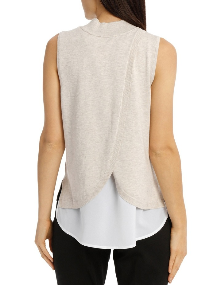 Sleeveless High Neck 2-For Knit - Oatmeal image 3