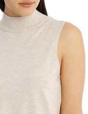 Tokito - Sleeveless High Neck 2-For Knit - Oatmeal