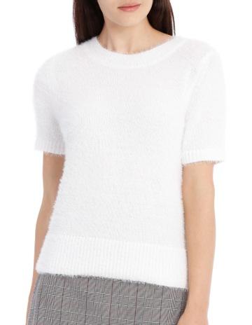 28f8b9820d Tokito Fluffy Short Sleeve Jumper - White