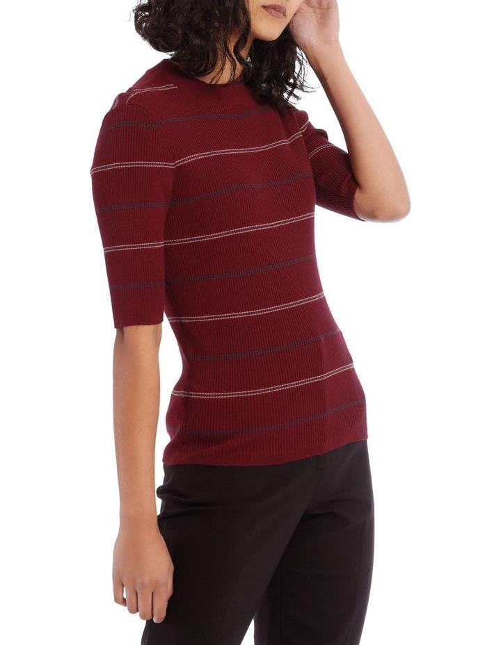 High Neck Short Sleeve Rib Jumper image 2