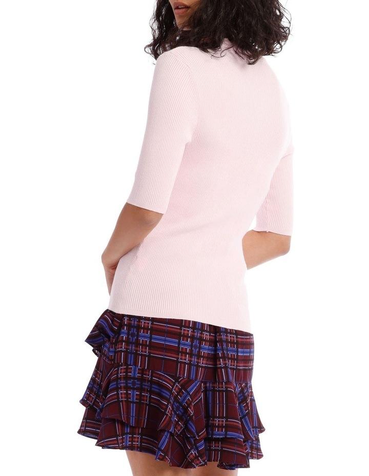 High Neck Short Sleeve Rib Jumper image 3