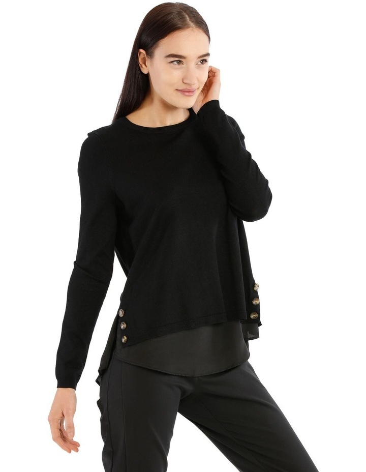 Boat Neck Knit With Shirt Tail image 2