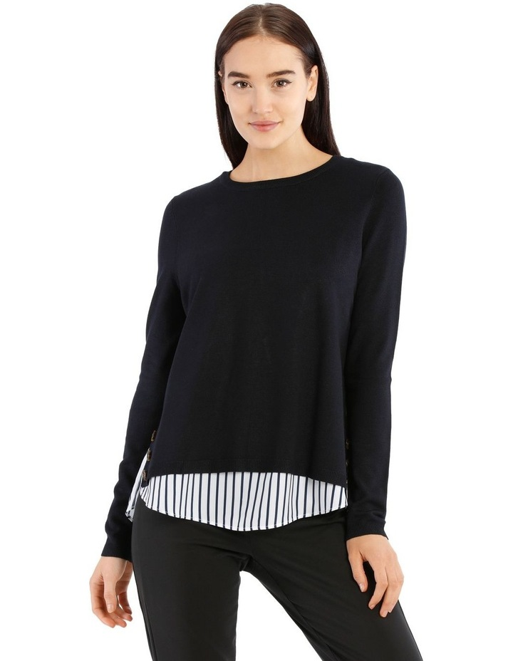 Boat Neck Knit With Shirt Tail image 1