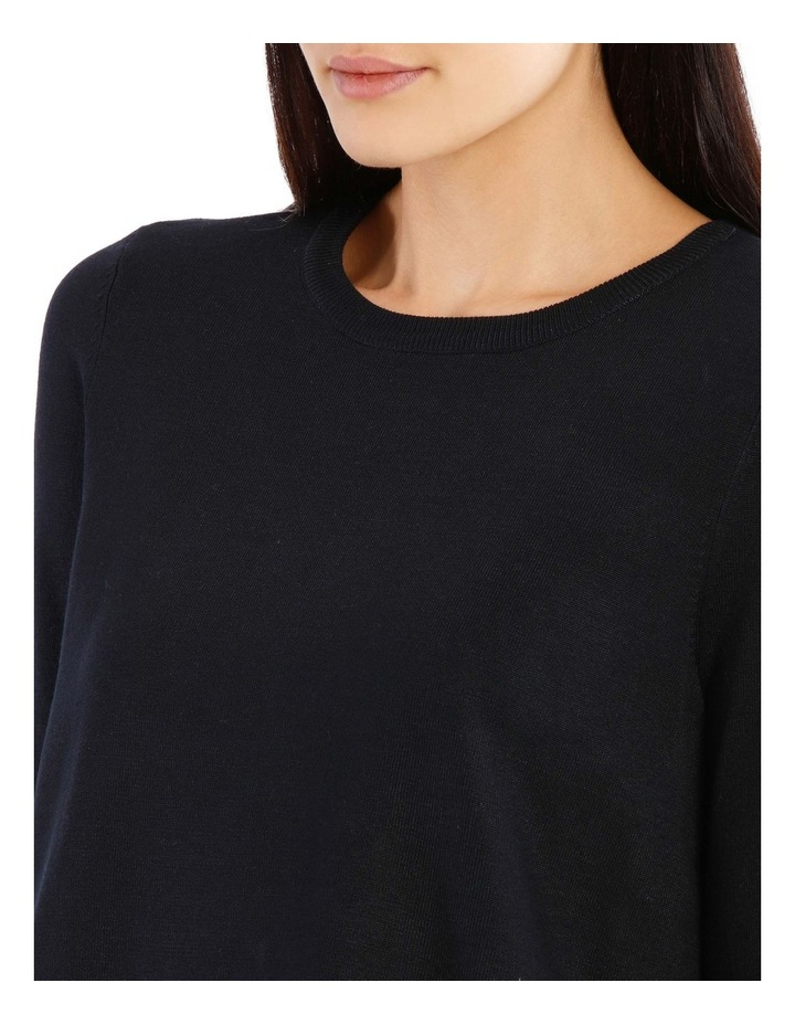 Boat Neck Knit With Shirt Tail image 4