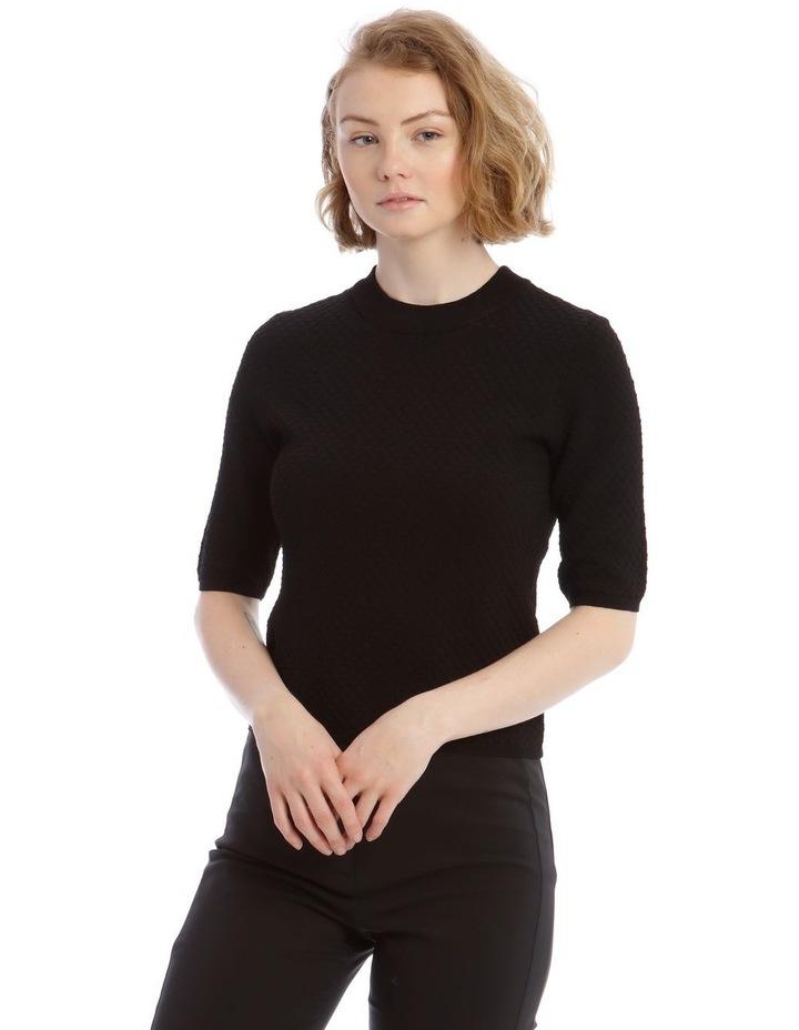 Textured Short Sleeves Knit Jumper image 1