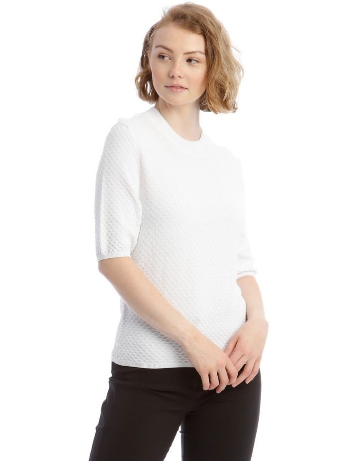 Textured Short Sleeve Knit Jumper image 1