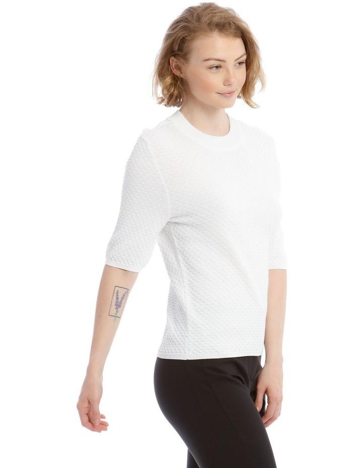 Textured Short Sleeve Knit Jumper image 2