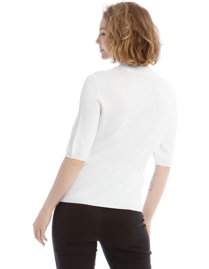 Textured Short Sleeve Knit Jumper image 3