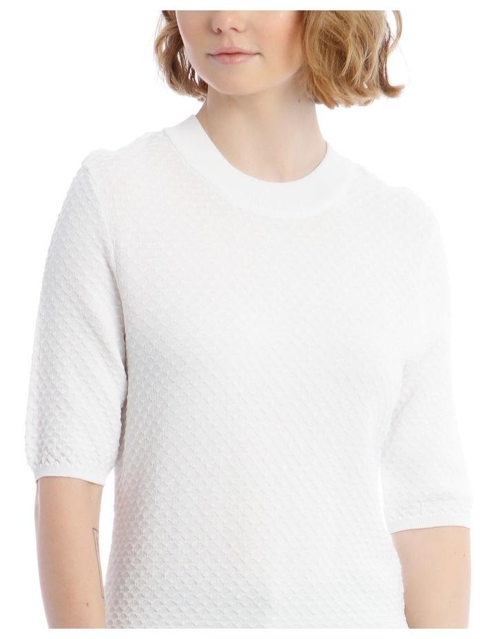 Textured Short Sleeve Knit Jumper image 4