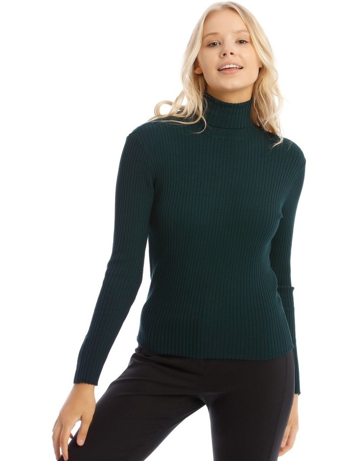 High Neck Rib Knit image 1