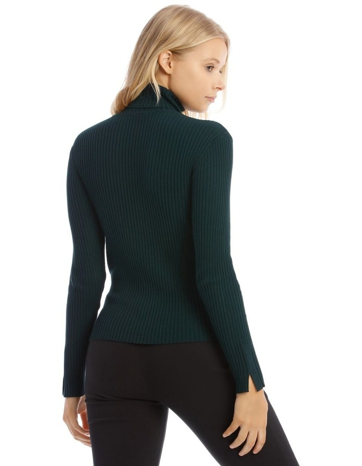 High Neck Rib Knit image 3