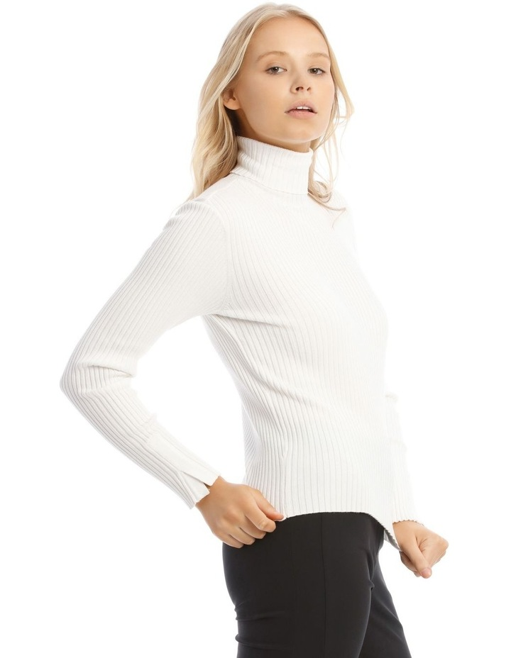 High Neck Rib Knit image 2