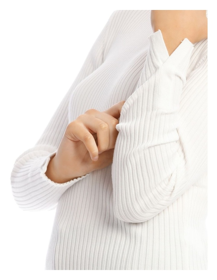 High Neck Rib Knit image 4