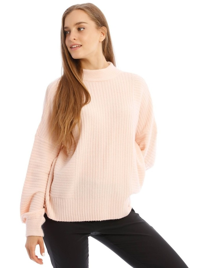 Tubular Neck Rib Jumper image 1