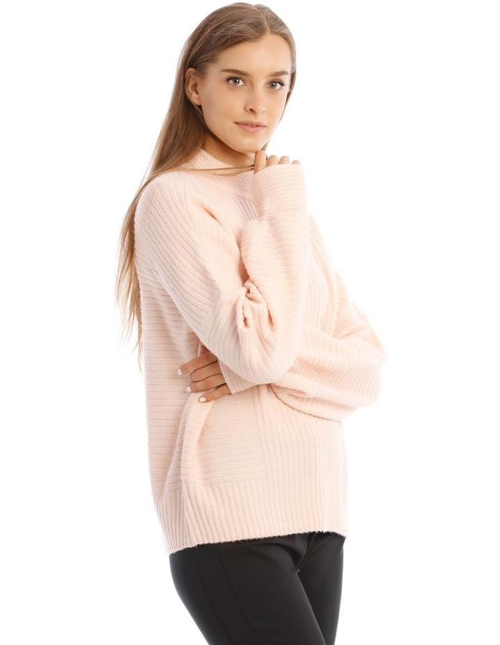 Tubular Neck Rib Jumper image 2