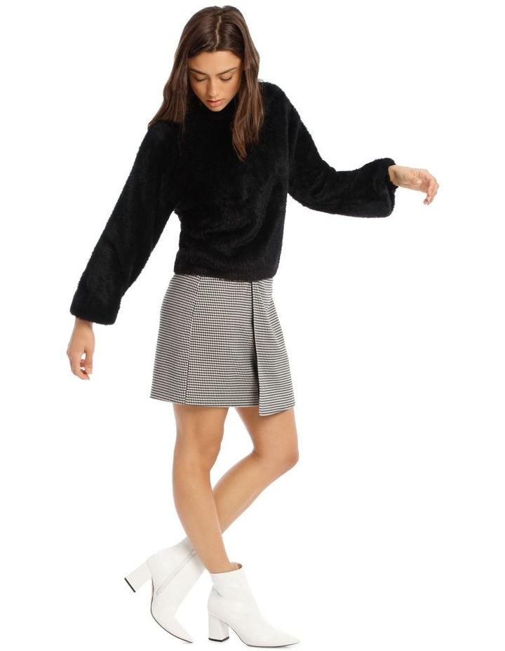 Black Fluffy Bell Sleeve Jumper image 2