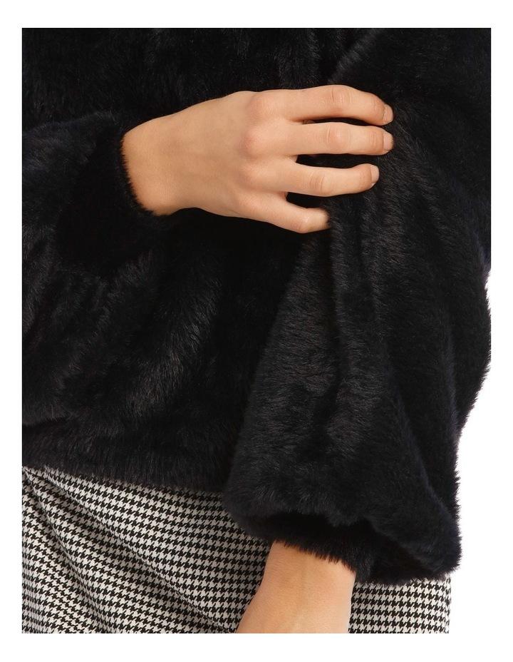 Black Fluffy Bell Sleeve Jumper image 4