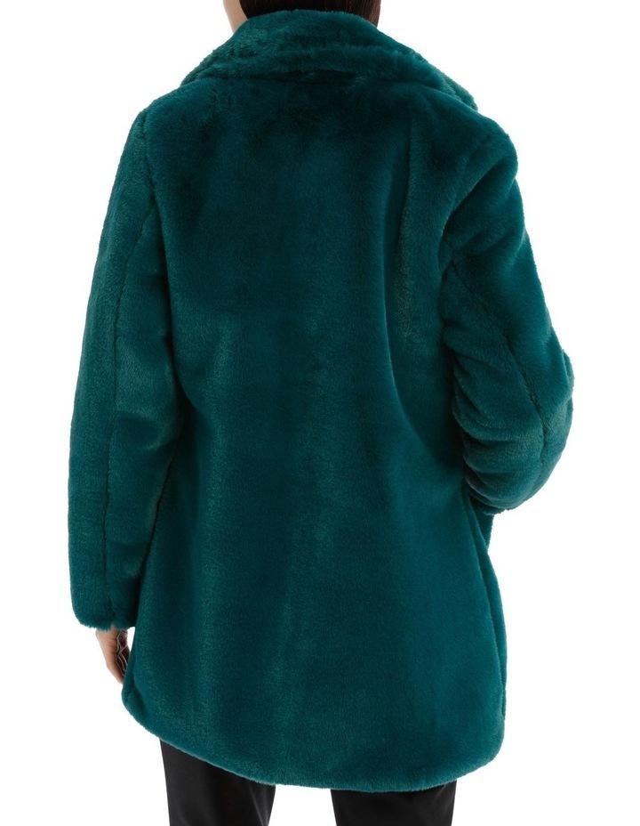 faux fur coat - emerald image 3