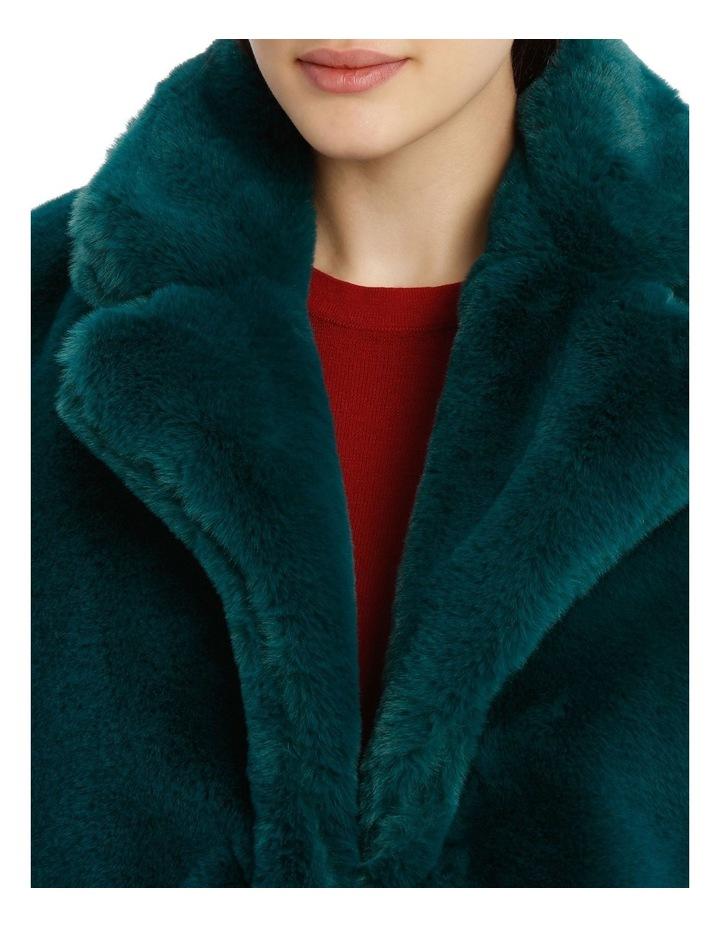 faux fur coat - emerald image 4