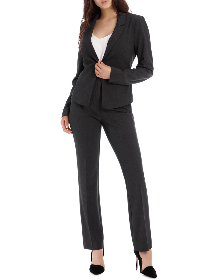 Charcoal Abi One Button Blazer image 2