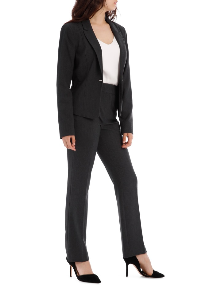 Charcoal Abi One Button Blazer image 4
