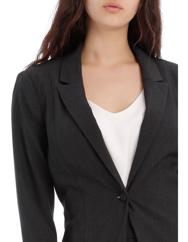 Charcoal Abi One Button Blazer image 7