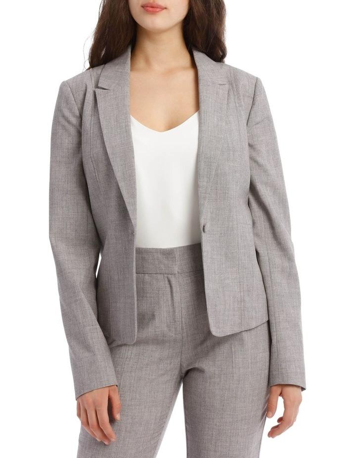Grey Abi One Button Blazer image 1