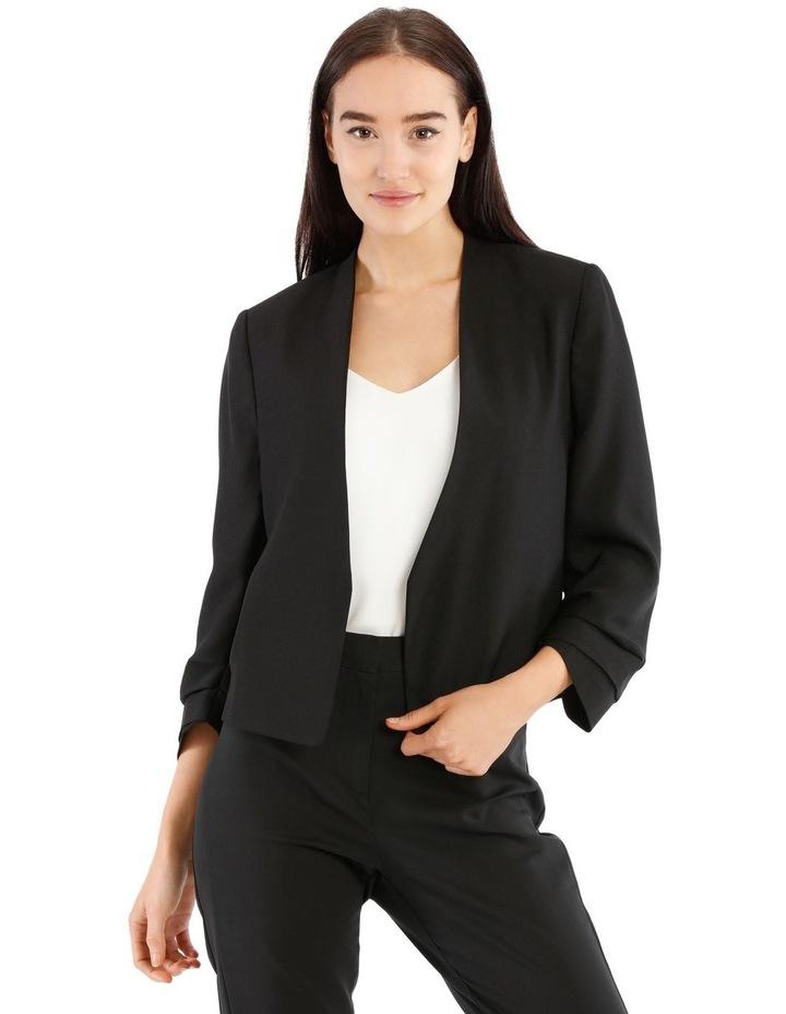 Rouched Sleeve Cropped Blazer image 1