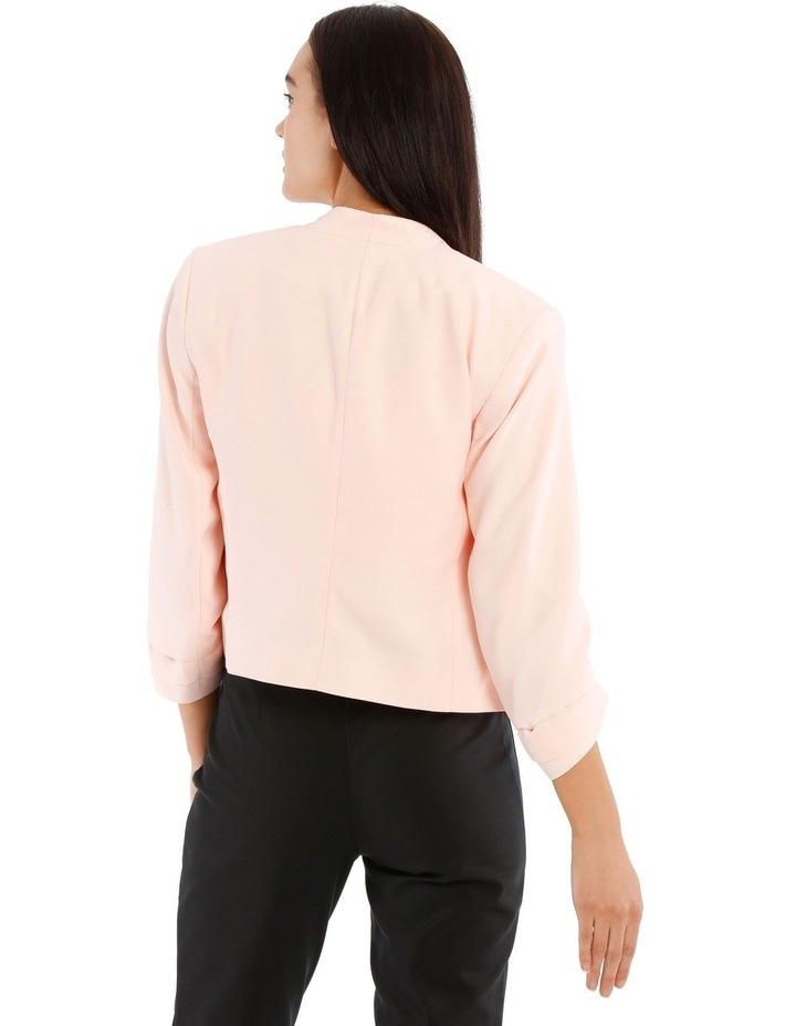 Rouched Sleeve Cropped Blazer image 3
