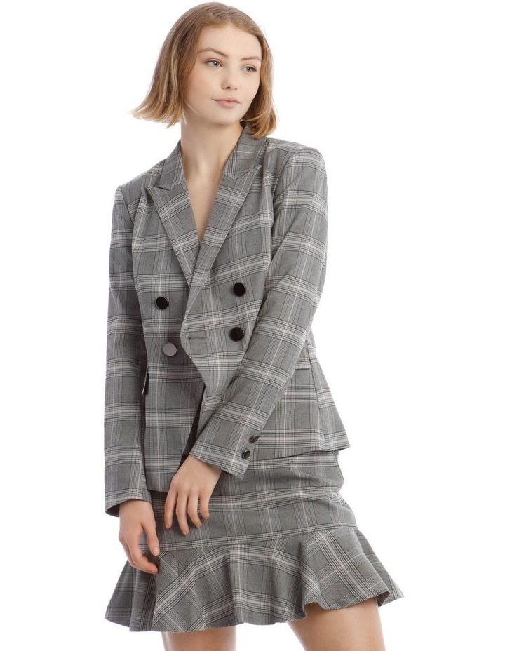 Check Cross Front Blazer image 1