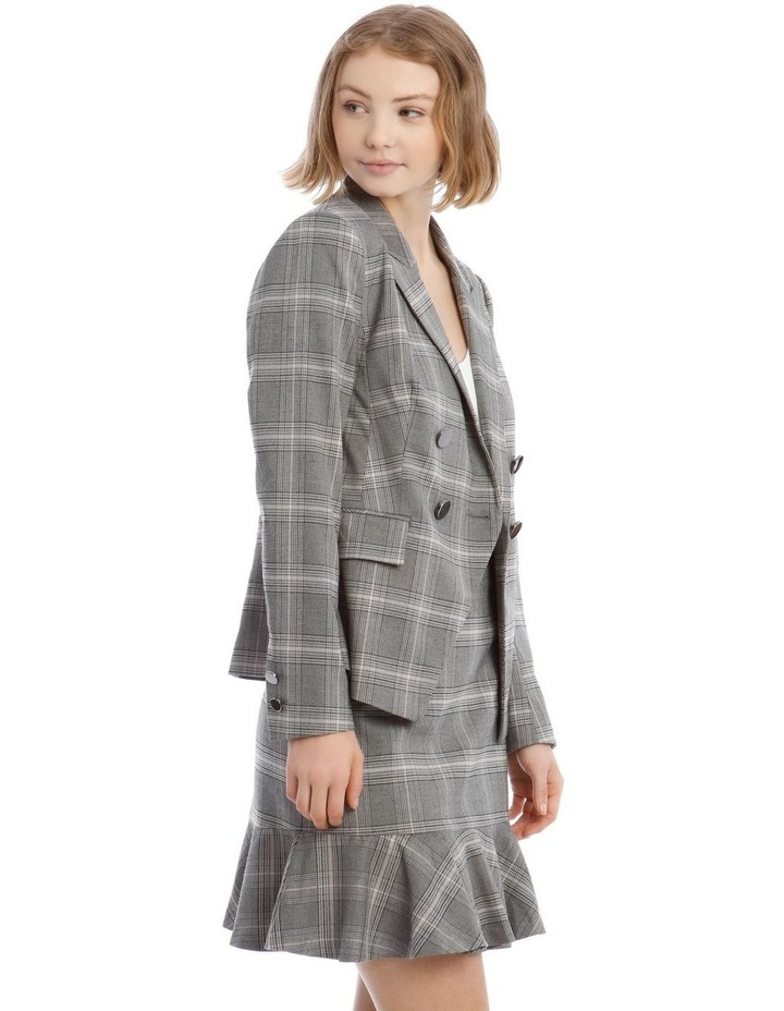 Check Cross Front Blazer image 2