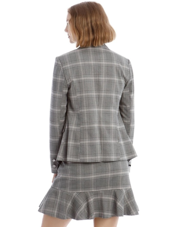 Check Cross Front Blazer image 3