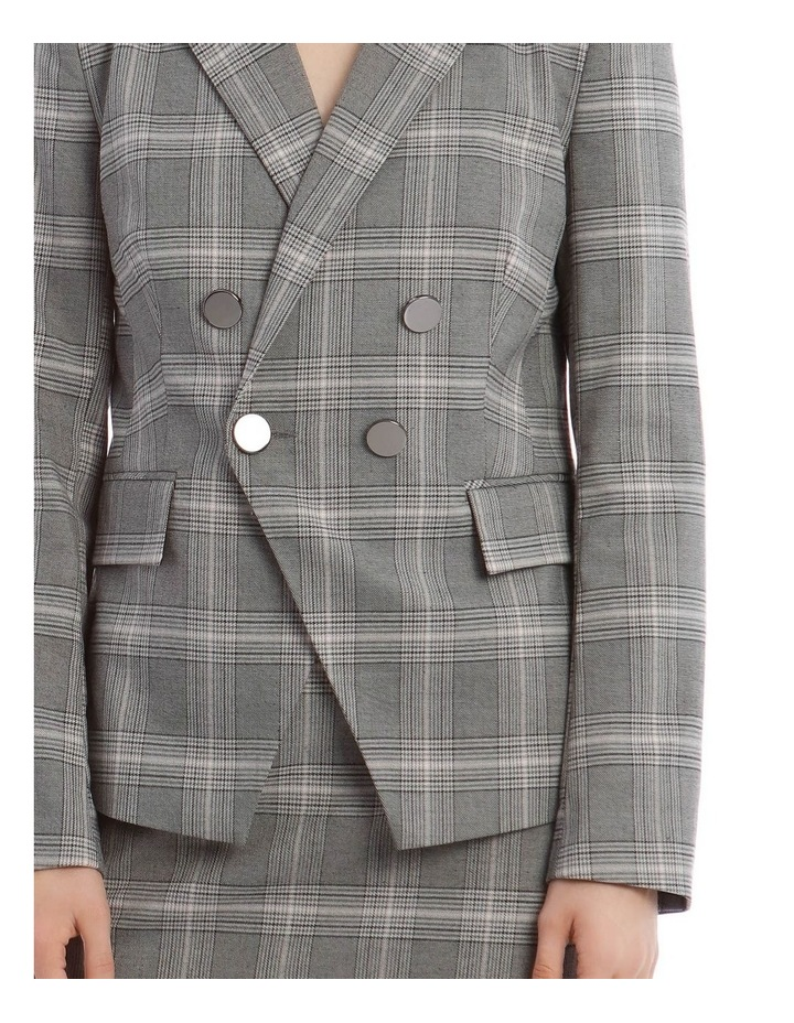 Check Cross Front Blazer image 4