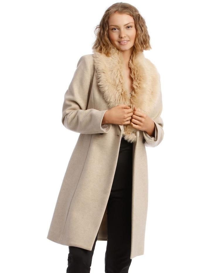 Faux Fur Collar Coat image 1