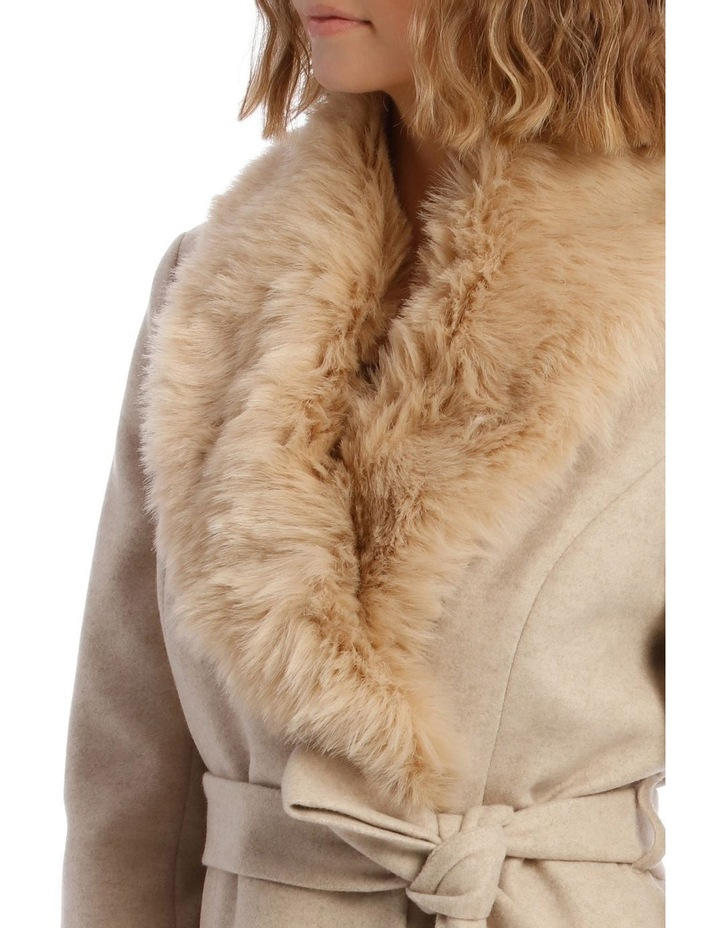 Faux Fur Collar Coat image 4