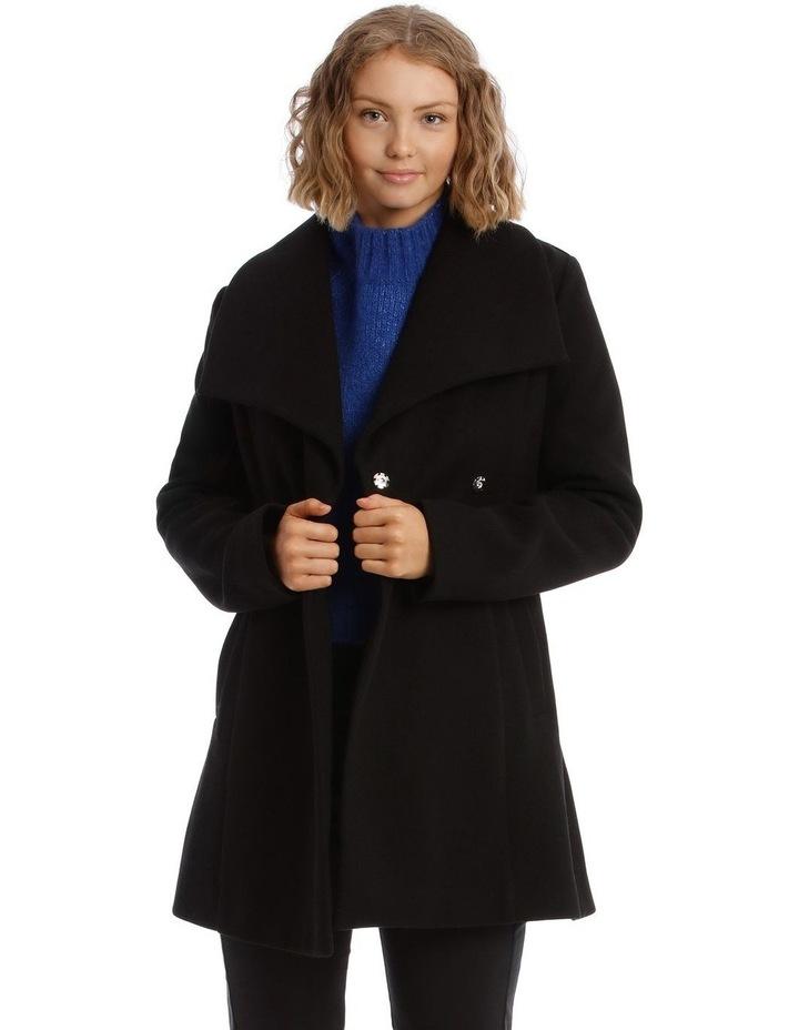 Black Wrap Coat image 1