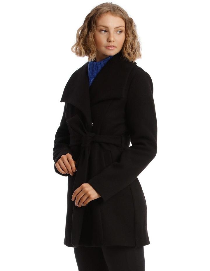 Black Wrap Coat image 2