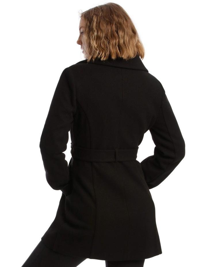 Black Wrap Coat image 3