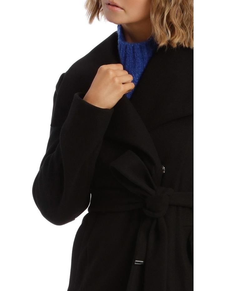 Black Wrap Coat image 4