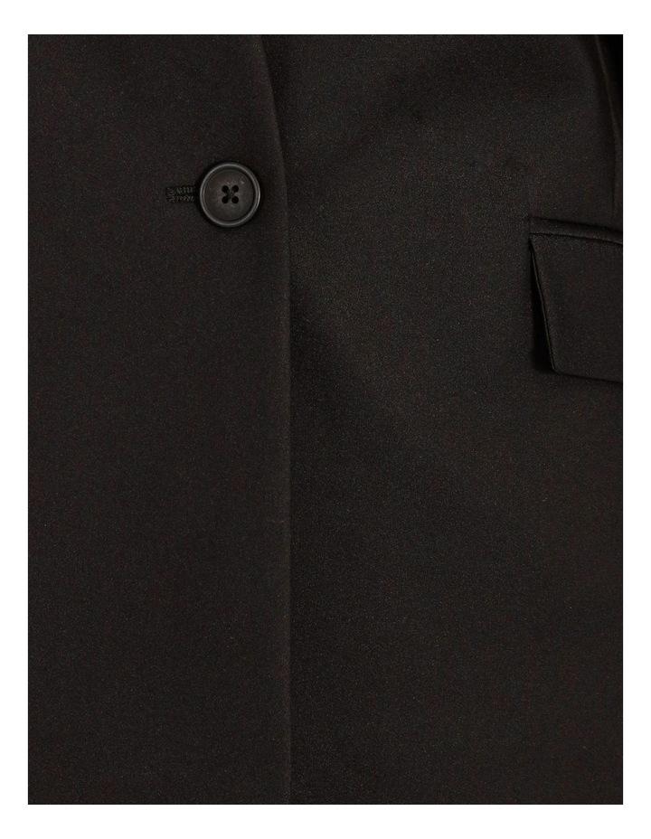 Structured Cotton Sateen Blazer image 5