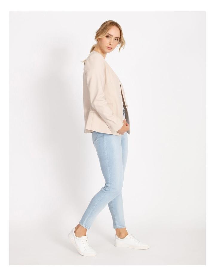 Structured Cotton Sateen Blazer image 2
