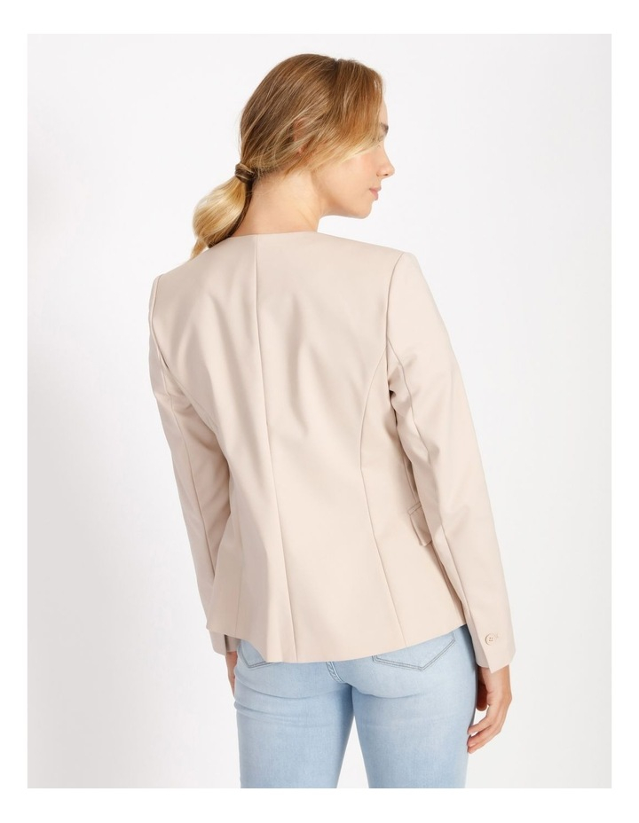 Structured Cotton Sateen Blazer image 3