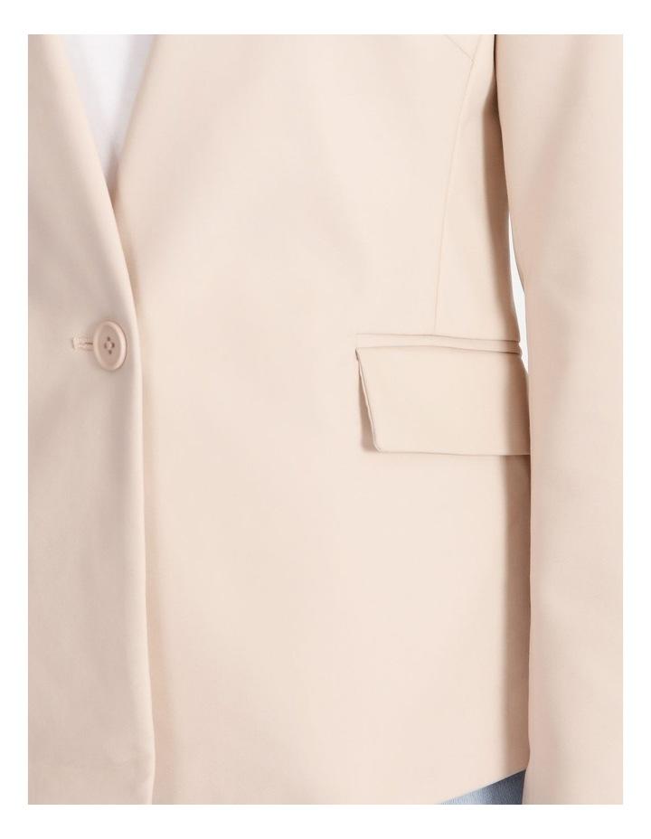 Structured Cotton Sateen Blazer image 4